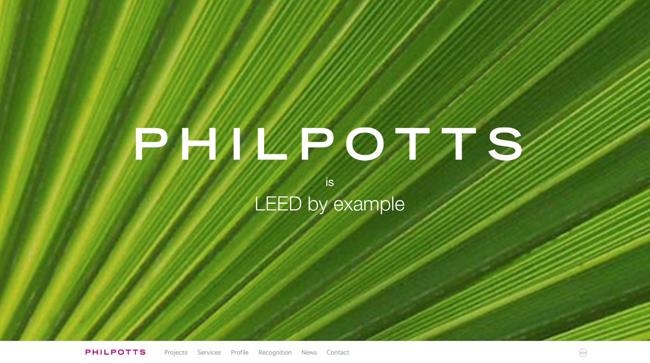 Screen grab of Philpotts website home page.