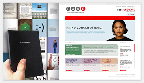 Carnegie Mellon Brag Book and Pittsburgh Action Against Rape website home page