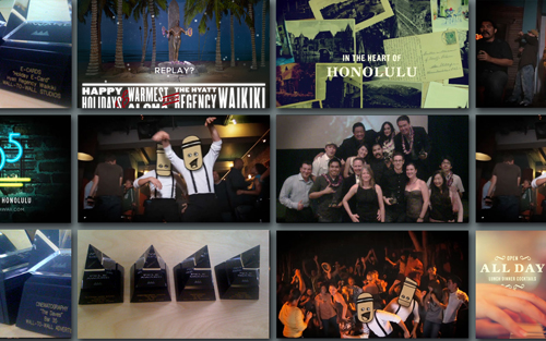 Collage of images from 2010 Pele Awards won by Wall-to-Wall Studios
