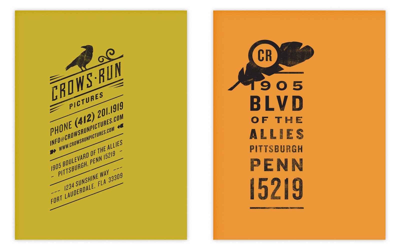Crowsrun stationery detail