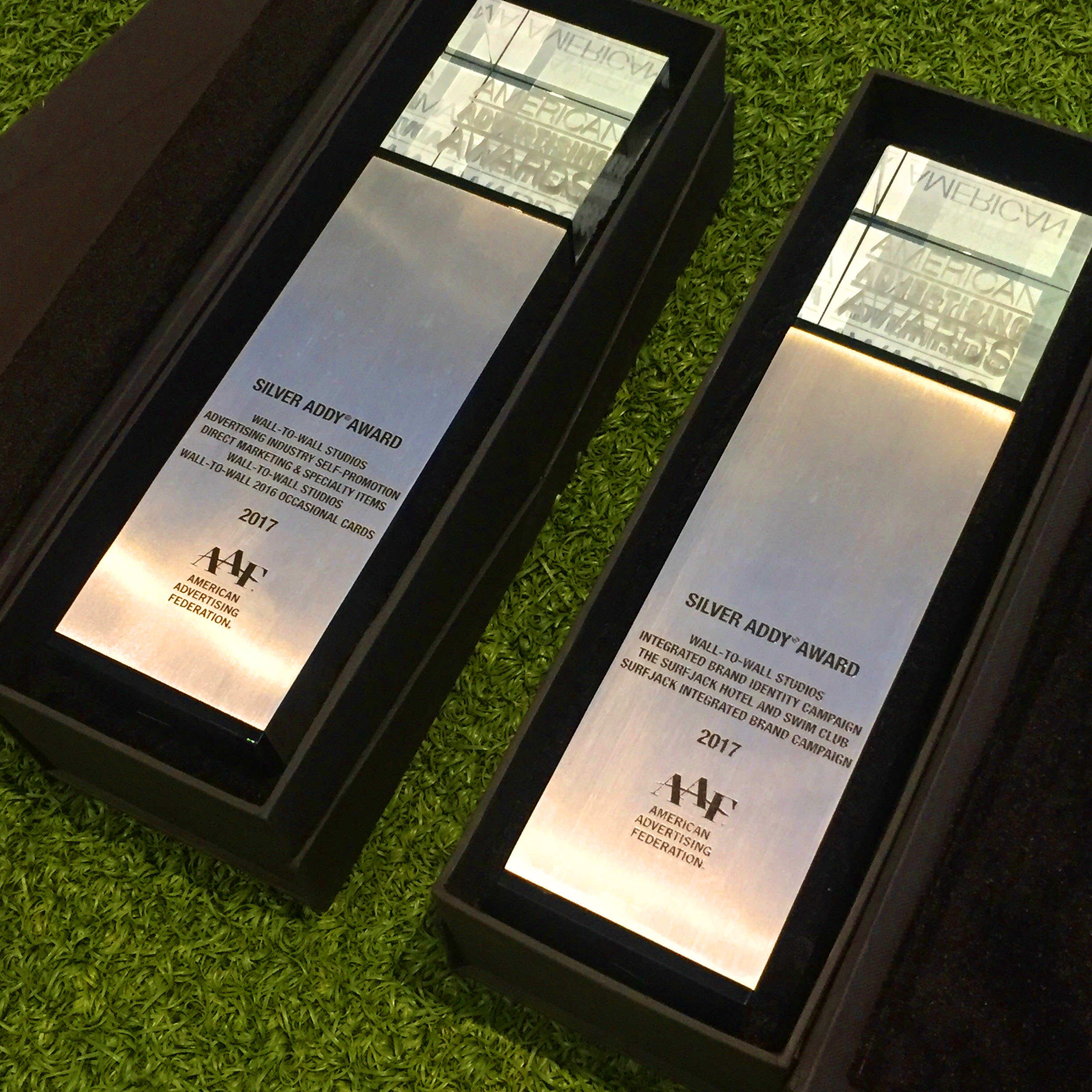 Wall to Wall Studios Wins Two National Silver Addy Awards For