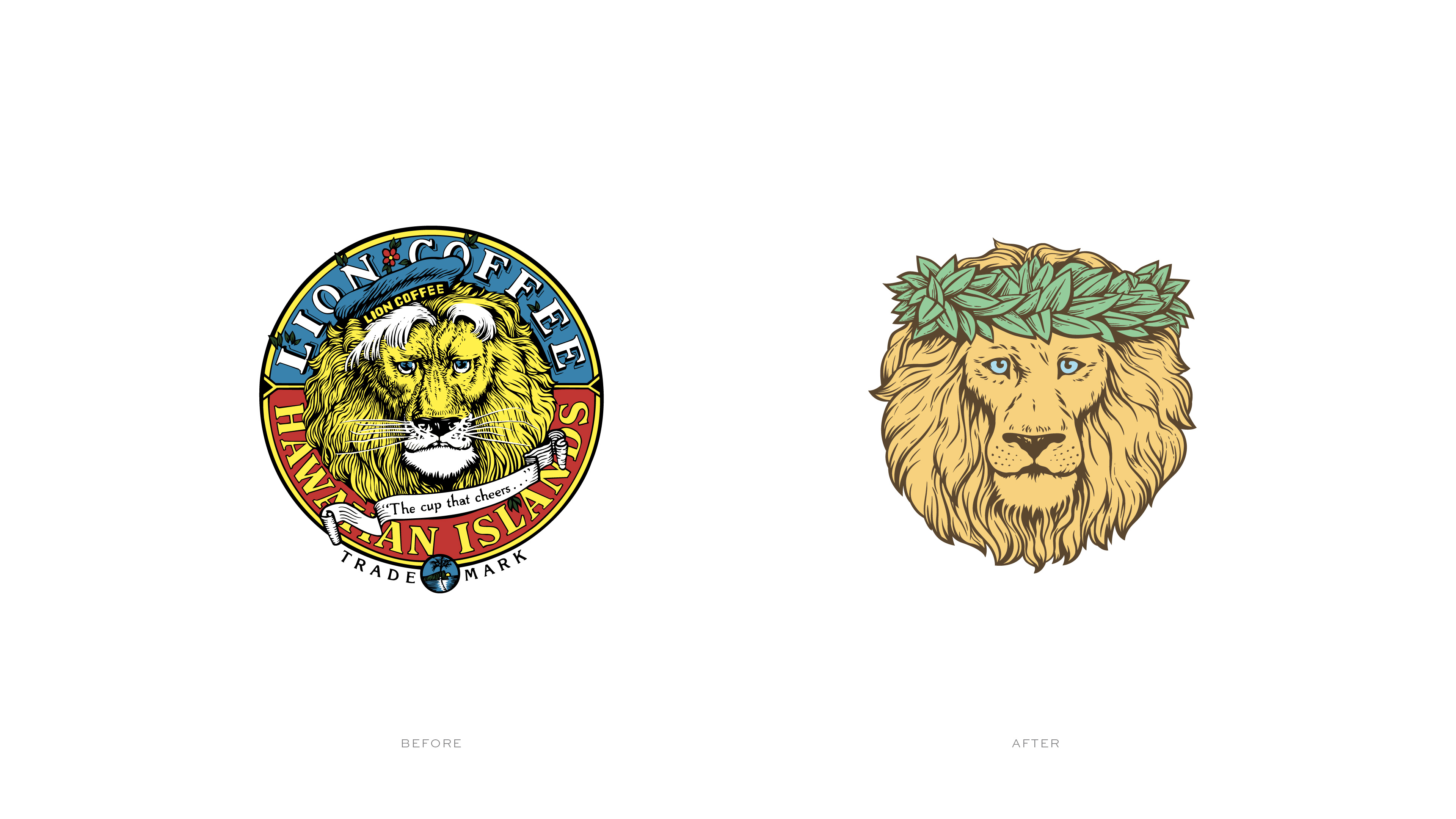 Lion logo before after 2x